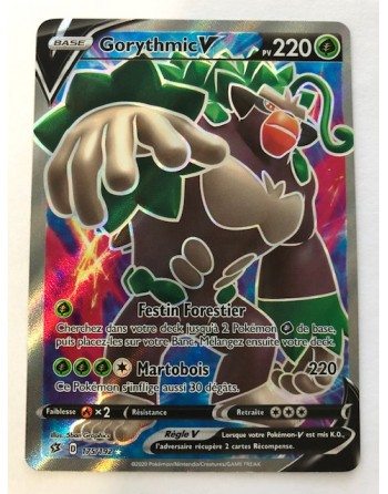"Carte Pokemon ""Gorythmic V Full Art"" - EB02 - 175/192 - UR - Française - NEUVE"