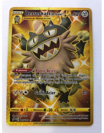 "Carte Pokemon ""Berserkatt de Galar"" - EB02 - 205/192 - Secret Gold - Française - NEUVE"